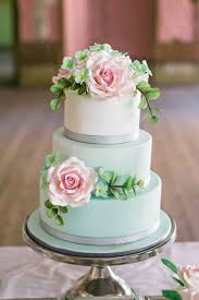 Simple Wedding Cake Designs 24 Gentle Mint Green Colored Wedding Cakes Weddingomania