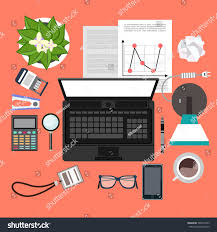 flat design vector illustration modern office stock vector