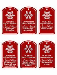 2012 Ornament Exchange Inkablinka - christ centered 12 days of christmas small gifts for neighbors