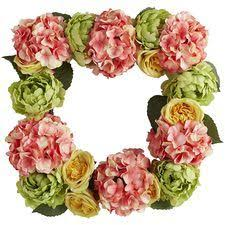 blush faux peony wreath pier one here comes