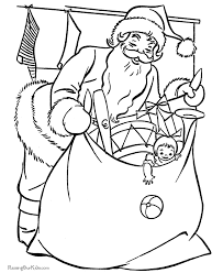 free printable santa claus coloring pages bag toys