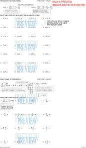 percent worksheets by math crush