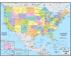 Time Zones Map United States by Maps Of Usa Detailed Map Of United States Of America In English