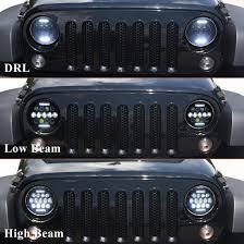 led lights for jeep wrangler firebug jeep wrangler 7 round led headlights drl jeep wrangler