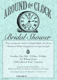 around the clock bridal shower items similar to around the clock shower invitation bridal or