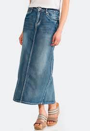 denim maxi skirt plus size geo stitch denim maxi skirt skirts cato fashions