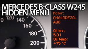 how to enter hidden service menu in mercedes w245 b class