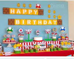 mario birthday party mario cart etsy