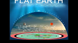 flat earth comparison between the of the glass firmament