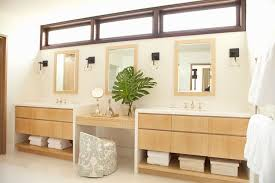 contemporary master bathroom with vinyl floors by chris barrett