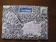 Decorated Envelopes Mail Art Love This Illustration Style Snailmail Envelope Mail