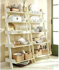 Ladder Shelf For Bathroom Bookcase Pottery Barn Leaning Bookcase Ladder Shelves Leaning