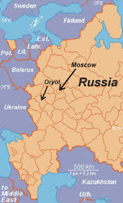 european russia map cities oryol maps facts don and ruth ossewaarde missionaries to russia