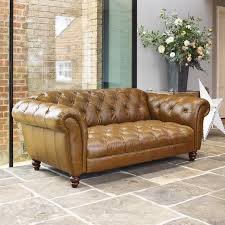 cheap chesterfield sofa wellington 2 seater semi aniline leather chesterfield sofa caramel
