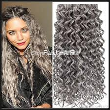 hair extension sale hot sale silver grey hair extensions human grey hair weave 100g