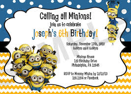 Minions Invitation Card Minion Birthday Invitations Ajordanscart Com