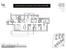 residence floor plan leedon residences floor plans 4 bedroom sky suites