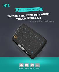 large key keyboards for android h18 2 4ghz wireless mini keyboard touchpad backlight