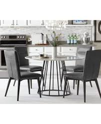 Round Dining Room Tables For 4 by Callisto Marble Round Dining Set 5 Pc Dining Table U0026 4 Side