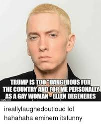 Ellen Degeneres Meme - trump is too dangerous for the country andforme personally as a gay