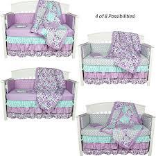 crib bedding girls amazon com purple crib bedding zoe 8 in 1 baby bedding set with