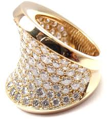 diamond cocktail rings cartier chalice large diamond gold cocktail ring at 1stdibs