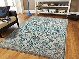 Where Can I Buy Cheap Area Rugs by Amazon Com Traditional Vintage Area Rug Distressed Rug Teal Blue