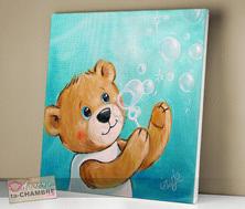 toile pour chambre bébé tableau nounours pour déco de chambre d enfant bébé vente de