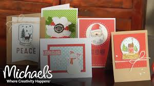 Homemade Christmas Card Ideas by Holiday Handcrafted Card Ideas Diy Holiday Michaels Youtube