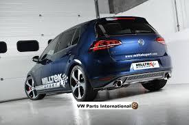volkswagen brunei vw golf mk7 gti milltek 3 u2033 sport cat back exhaust 2x polished
