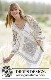 drops design poncho midsummer drops 167 14 free crochet patterns by drops design