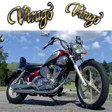 2pcs motorcycle gold 3d plastic fuel gas tank badge emblem decal