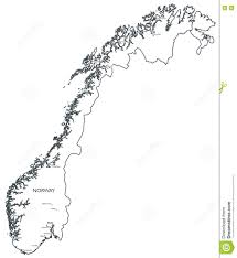 Map Of Norway Vector Map Of Norway Stock Vector Illustration Of Lillehammer