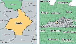 kentucky map hardin county kentucky map of hardin county ky where is
