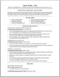 Pta Resume Examples by Nursing Aide And Assistant Resume Sample Cna Training