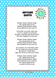 mothers earth earth kids song with free lyrics activities