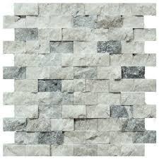 silver split face travertine mosaic tiles 1x2 natural stone mosaics