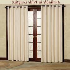 Wide Window Curtains by Home Design Curtains Door Window Treatment Ideas U Drapes Patio