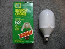 1992 ge compax compact fluorescent light bulb pre heat youtube