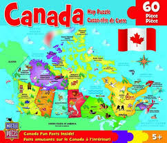 map of canada puzzle masterpieces canada map jigsaw puzzle 60 walmart canada