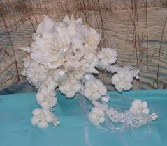 seashell bouquet handmade seashell flower cascading seashell bouquet bouqu