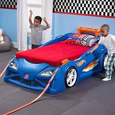 step2 corvette toddler to bed with lights amazon com step2 wheels toddler to bed with lights