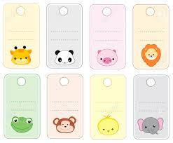 printable name tags colorful printable gift tags name tags with animal faces