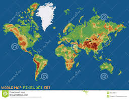 Map Of The World Art by Physical Map Of The World Stock Vector Image 62502888