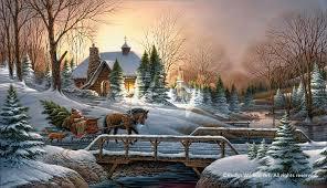 terry redlin heading home encore print christmas sleigh dog and