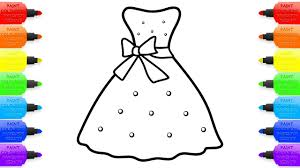 how to draw polka dot dress drawing and coloring book for girls