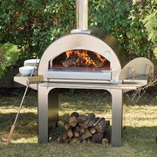 alfa forno 4 wood burning pizza oven on cart copper bbq guys