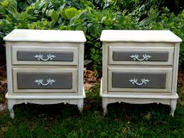 French Country Nightstand - vintage set nightstands french country nightstands paris apartment