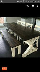farm tables with benches free custom farmhouse dining table ideas for the house