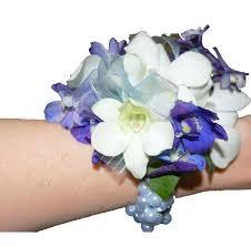 orchid wrist corsage blue delphinium white orchid wrist corsage cbcpas04 flower patch